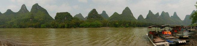 Landscape around Li River, near Yangshuo, China