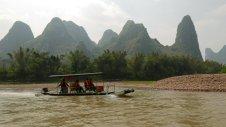 Boat ride on Li River, near Yangshuo, China