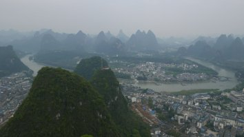 Views from tower - Yangshuo, China