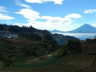 Lago Atitlan and local farms
